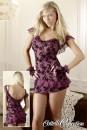 שמלת מיני עם רקמת פרחים /